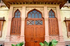 Ornate designed entrance doorway to Mohatta Palace Museum Karachi Pakistan Stock Photo