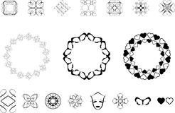 Ornate designs. Lots of ornate style designs Royalty Free Stock Photo