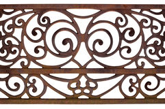 Ornate Detail of a fence Stock Image