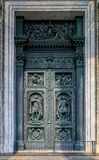 Ornate details of the large bronze doors of Saint Isaac& x27;s Russian Orthodox Cathedral  in Saint Petersburg, Russia. Ornate details of the large bronze gates royalty free stock image
