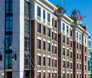 Ornate Details on Modern Brick Hotel Stock Photography