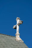 Ornate Deteriorated White Church Cross Royalty Free Stock Photography