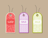 Ornate different sale tags set. Vector illustration. Ornate different sale tags set. Vector illustration Royalty Free Stock Images