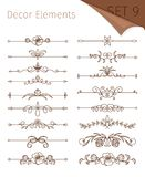Ornate retro floral dividers royalty free illustration
