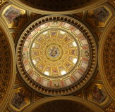 Ornate dome architecture, St. Stephen's Basilica, Budapest Royalty Free Stock Photo