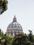 Ornate Dome of Saint Peters Basilica Stock Images