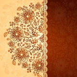 Ornate  doodle flowers background Royalty Free Stock Image