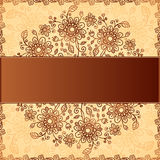 Ornate  doodle flowers background Royalty Free Stock Photos