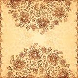 Ornate  doodle flowers background Stock Photo