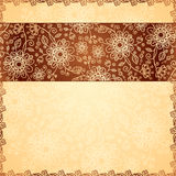 Ornate doodle flowers background. See my other works in portfolio royalty free illustration