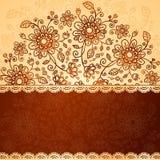Ornate  doodle flowers background Stock Image