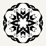Ornate doodle mandala Stock Image