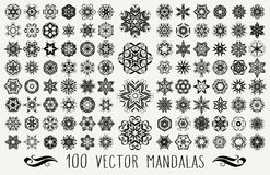 Ornate doodle mandalas Stock Image
