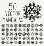 Ornate doodle mandalas Royalty Free Stock Photography