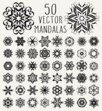 Ornate doodle mandalas Stock Photos