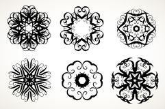 Ornate doodle mandalas Royalty Free Stock Image