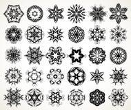 Ornate doodle mandalas Royalty Free Stock Photos