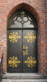 Ornate door Stock Images
