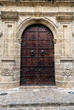 Ornate Door in Cartagena royalty free stock photos