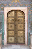 Ornate door at the Chandra Mahal, Jaipur City Palace Stock Photo
