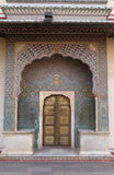 Ornate door at the Chandra Mahal, Jaipur City Palace Royalty Free Stock Images