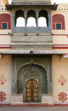 Ornate door at the Chandra Mahal, Jaipur City Palace Royalty Free Stock Photography