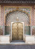 Ornate door in City Palace in Jaipur, India Stock Photo