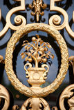 Ornate door detail Stock Images