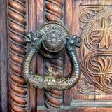 Ornate door handle Royalty Free Stock Photos