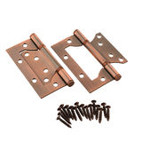 Ornate door hinges Royalty Free Stock Images