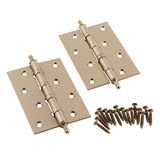 Ornate door hinges Stock Images