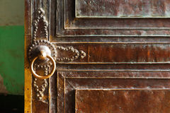 Ornate doors are very common in the ancient city of Kashgar, China Royalty Free Stock Photos