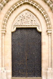 Ornate Doorway. Ornate Semi Circular Cathedral Doorway stock images