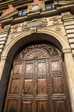 Ornate Doorway in the Kazimierz District of Kracow formerly the Jewish Area of the city in Poland. Stock Images