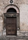 Ornate doorway - Narni, Italy Stock Images