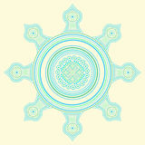 Ornate of dots. The color ornate of dots Royalty Free Stock Image