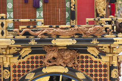 Ornate dragons and artwork, Japan Stock Image