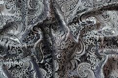 Ornate Drapery, brocade fabric Royalty Free Stock Photography