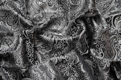Ornate Drapery, brocade fabric Stock Image