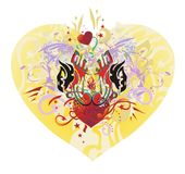 Ornate eagle heart Royalty Free Stock Images