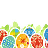 Ornate Easter eggs Stock Photo