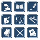 Ornate education symbols Stock Image
