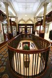 Interior of Old Shopping Bank Arcade, Wellington, New Zealand stock images