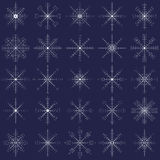 Ornate elegance snowflakes set for Christmas Stock Photo
