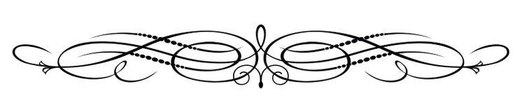 Ornate, elegant scroll design stock illustration