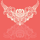 Ornate elegant vector floral frame in Gzhel style Stock Images