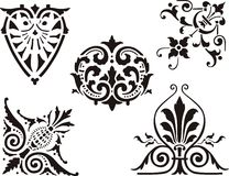 Ornate elements Stock Images