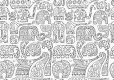 Ornate elephants, seamless pattern for your design Stock Photo