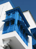 An ornate enclosed balcony Sidi Bou Said, Tunisia Royalty Free Stock Photography