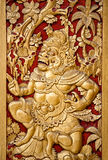 Ornate entrance door to temple in Bali. Stock Photos